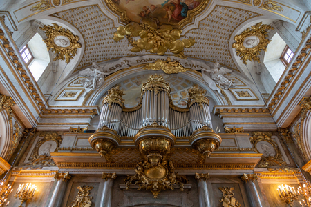 Stockholm, Sweden - June 2016: Interior of Slottskyrkan - the royal chapel in Stockholm, Sweden. 報道画像