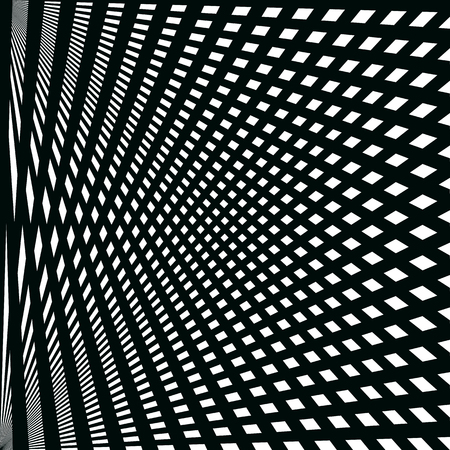 Abstract pattern of black lines on the white background Ilustrace