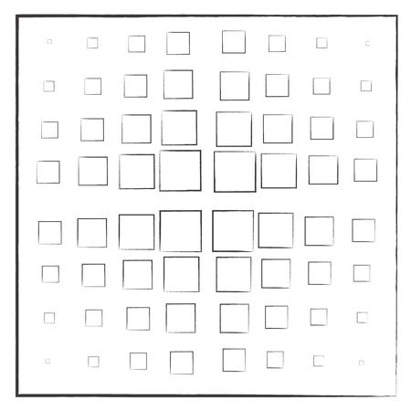 Black squares on a white background 版權商用圖片 - 92124291