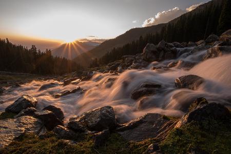 mahadev: Sun is going down in the indian part of Kashmir. Near Mahadev mountain.