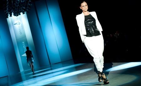 bublik: KIEV, UKRAINE - OCTOBER 16: Fashion model wears clothes created by ANNA BUBLIK at the 24th Ukrainian Fashion Week on Oct. 16, 2009 in Kiev, Ukraine.