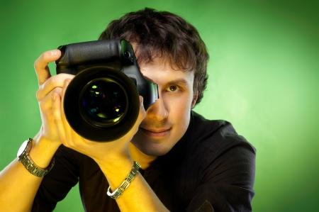 Fotografo con fotocamera Archivio Fotografico - 13634998