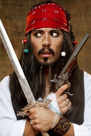 Insoddisfatto dei pirati Archivio Fotografico - 13635028