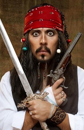 Überrascht Piraten Standard-Bild