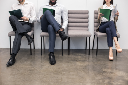 list of successful candidates: People Waiting for Job Interview Concept