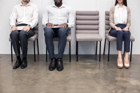 Mensen die op Job Interview Concept wachten
