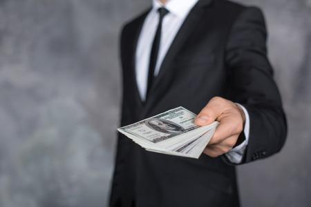 corruptible: Money Cash Finance Corruption Illegal Transaction Concept Stock Photo
