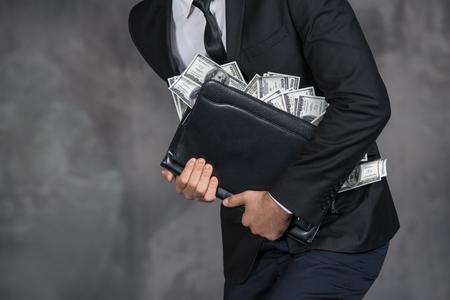 Money Cash Finance Corruption Illegal Transaction Concept Imagens