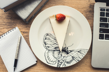 Objects isolated on table in a coffee shop