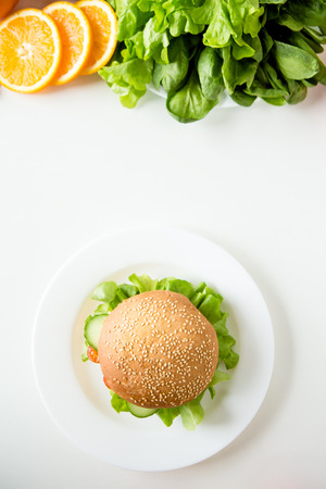 Fresh food meal preparation isolated on table