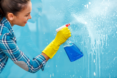 Concept for home cleaning services Stock Photo