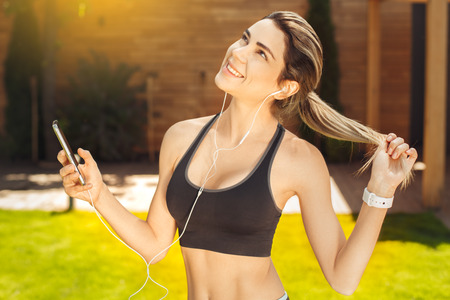 Young woman exercise in the park healthy lifestyle