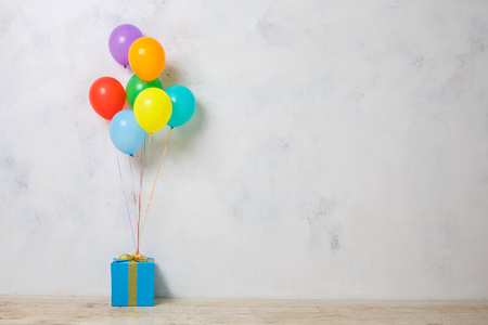 Present box isolated on white celebration birthday
