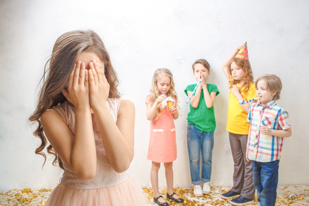 Little kids studio portrait party celebration together