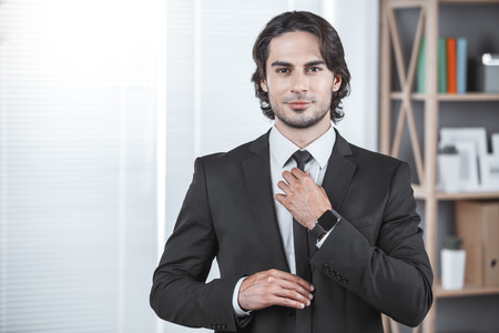 Business man working in the office job concept Stok Fotoğraf