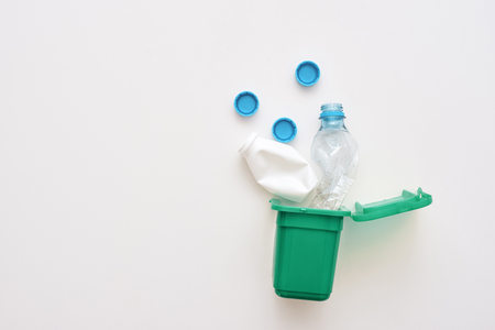 Plastic bottles from milk and water, isolated