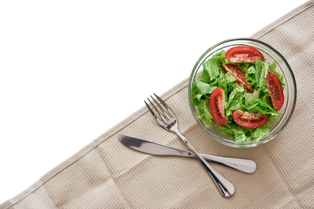 Diet dinner. Fresh salad on the table Stock Photo