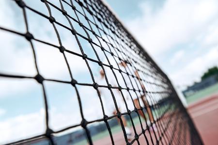 Net. Tennis court