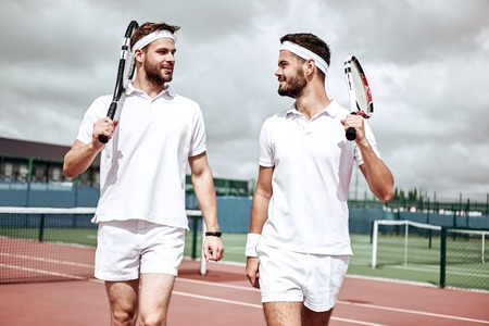 Active weekend. Men are going to play tennis