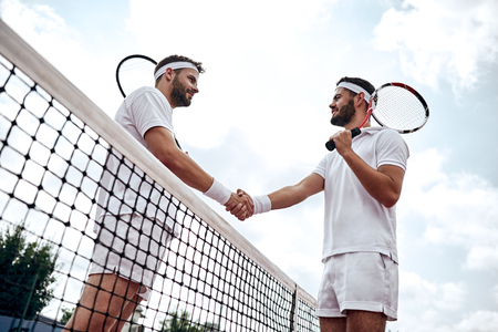 Respect your opponent. Tennis players after the match