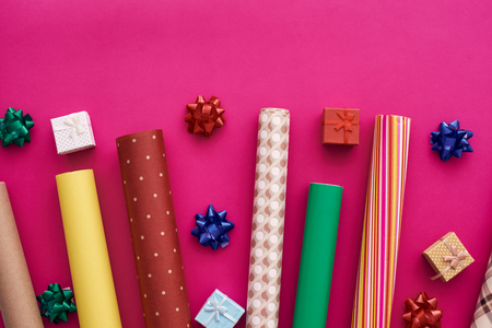 Dress up your gift with bright and beautiful gift wrapping paper.