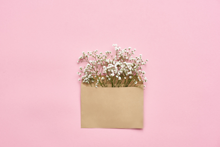 Surprise! Envelope with tender wild flowers for her