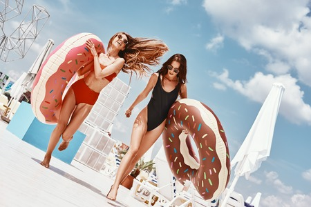 How much fun have you had recently? Girls having fun at the rooftop swimming pool