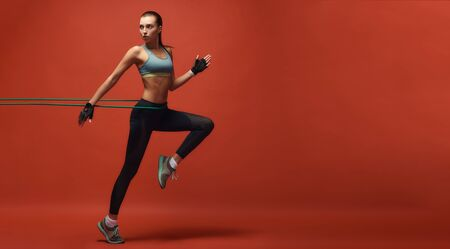 Fitness is not a destination it is a way of life. Sportswoman having work out