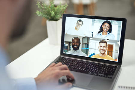 Staying connected with friends and colleagues at any time Imagens