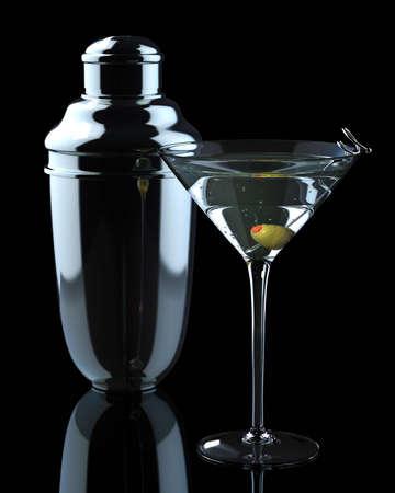Martini and Shaker Standard-Bild