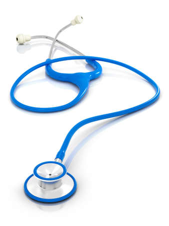 Blue Stethoscope - Isolated Banque d'images