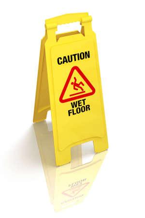 Caution Wet Floor Sign photo