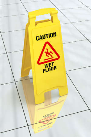 Caution Wet Floor Sign Stock Photo - 5194401