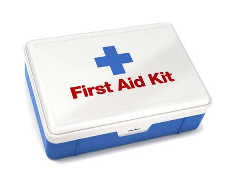 botiquin primeros auxilios: First Aid Kit aislados en blanco con el trazado de recorte