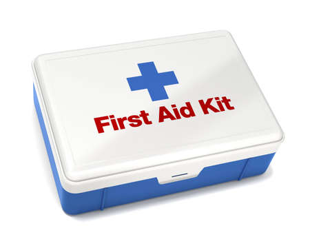 First Aid Kit Isolated on White with Clipping Path Stock Photo - 5911352