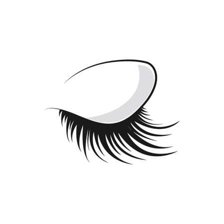 Eyelashes Logo Icon Template Vector