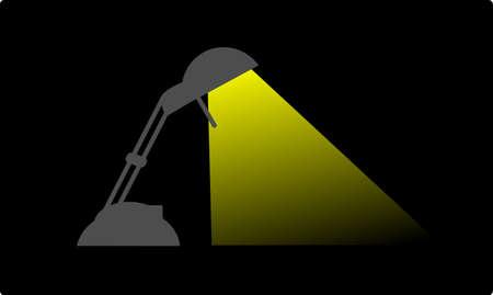 lamp light: Lamp light in dark night Stock Photo