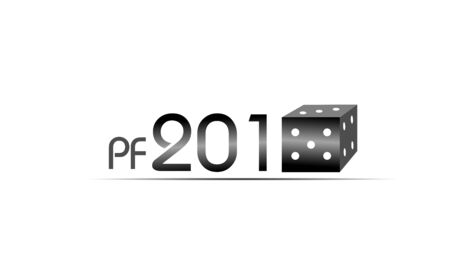 pf: Illustration of pf 2015 with cube Stock Photo