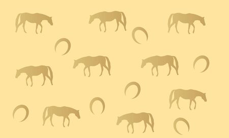 light brown horse: Light brown horse texture with horseshoe and silhouette of walking horse