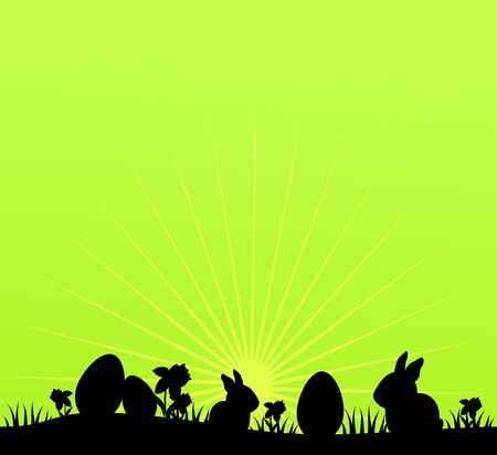 eater: Green background with black eater line illustration Stock Photo
