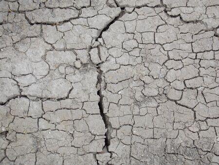 cranny: Photo detail of dry cracky clay ground