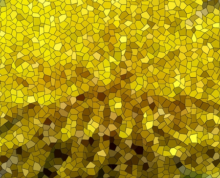 erratic: Abstract background of yellow small pieces mosaic