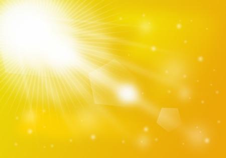 sunshines: Yellow summer background with sunshines shining lights