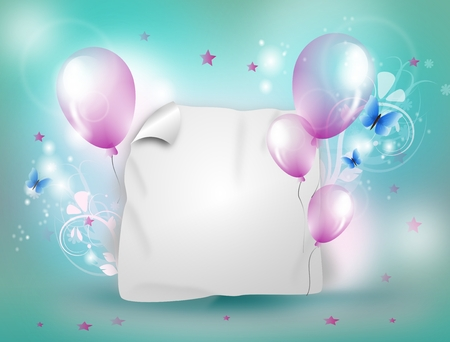 white party: Light turquoise and pink celebration background for different party