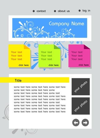 incorporation: Modern flat vector web template for business company