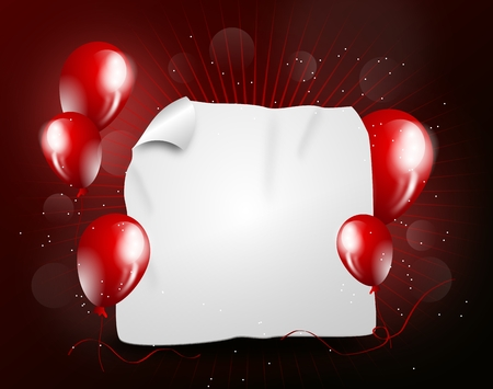unruly: Illustration of dark red party background for hot party