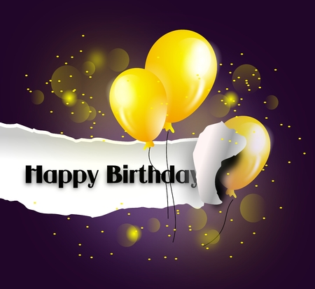 pluck: Illustration of pluck background of happy birthday greeting card