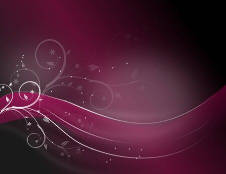 rosa negra: Pink black abstract background with white shiny floral decoration
