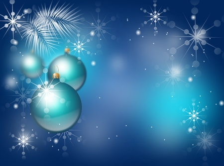 christmas bulbs: Beautiful christmas background with christmas bulbs illustration