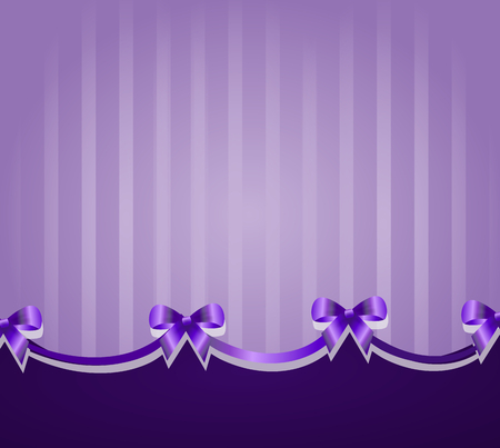 ceremonial: Ceremonial purple background with purple ribbons decoration Stock Photo